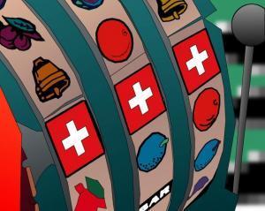 machine a sous suisse drapeau